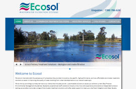 Ecosol Wastewater Management by Living website design adelaide Web Design Adelaide