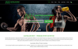 Australian Whey sports supplements Portfolio